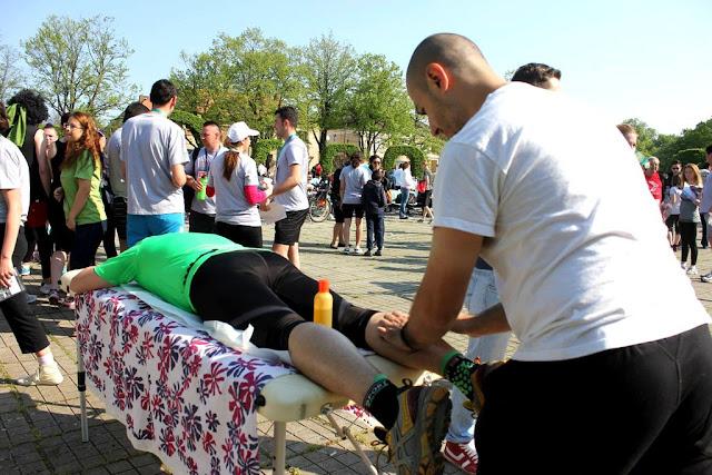 Chindea. Maseur oficial la Maratonul, Semimaratonul şi Crosul Aradului. 6 iunie 2015. Timotion