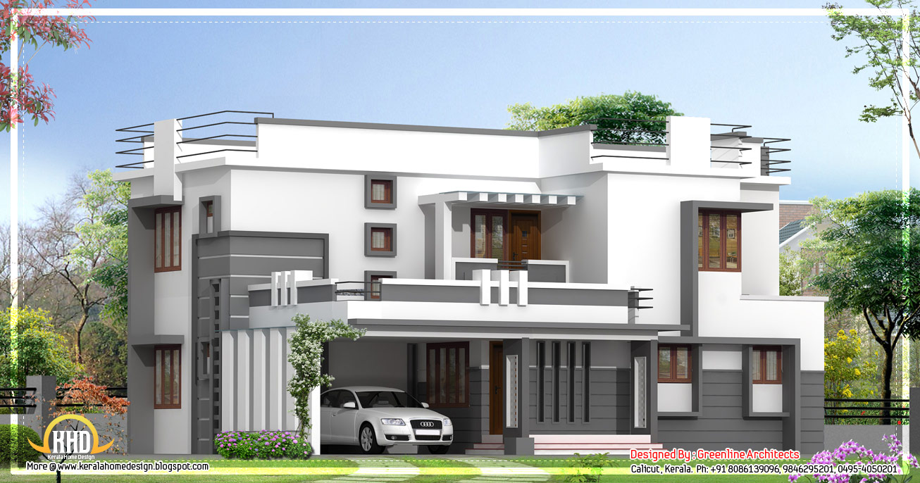 Contemporary 2 story kerala home design 2400 sq ft Modern two story homes