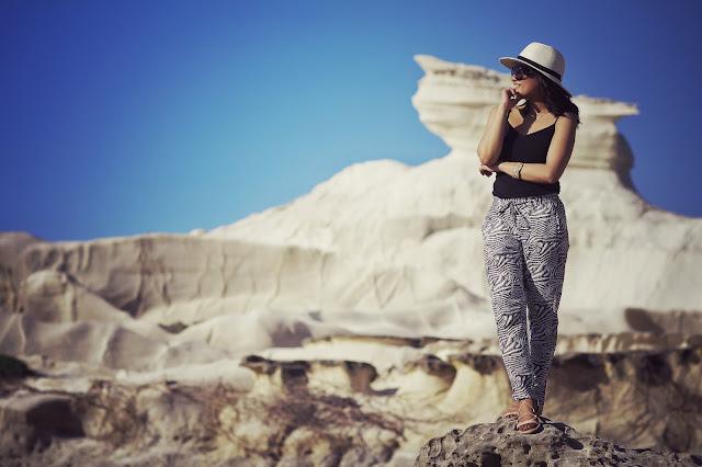 H&M zebra-print trousers, pagudpud ilocos norte, Kapurpurawan rock formation, best of Philippines