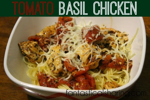 Tomato Basil Chicken - a really simple dish with a ton of flavor - it's not to be missed!