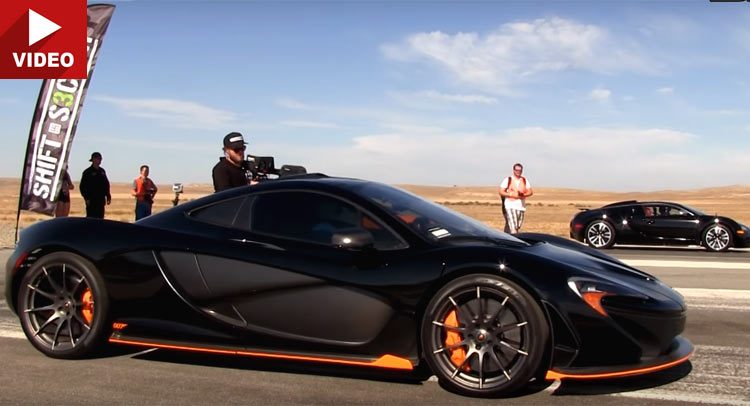 mclaren p1 and bugatti veyron go head to head in epic drag race. Black Bedroom Furniture Sets. Home Design Ideas