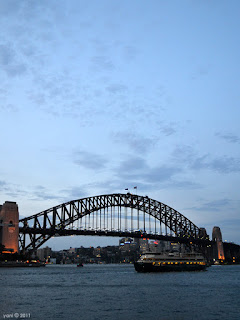 evening over the harbour bridge