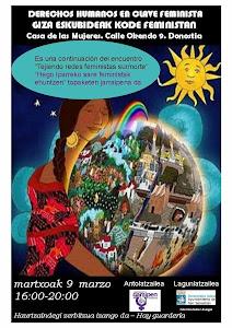 9 DE MARZO: JORNADA DERECHOS HUMANOS EN CLAVE FEMINISTA