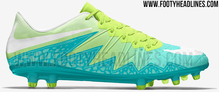 Nike Women\u0027s Hypervenom Phinish - Lime Green / Turquoise / White