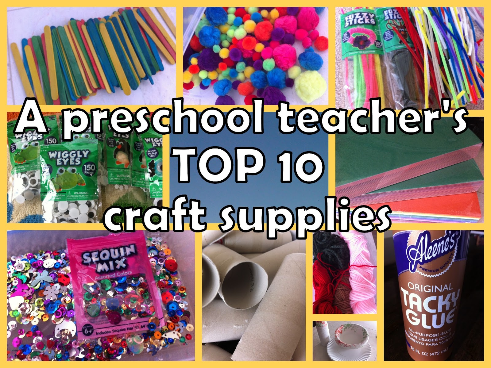 lil 39 miss smartypants top 10 craft supplies for prek