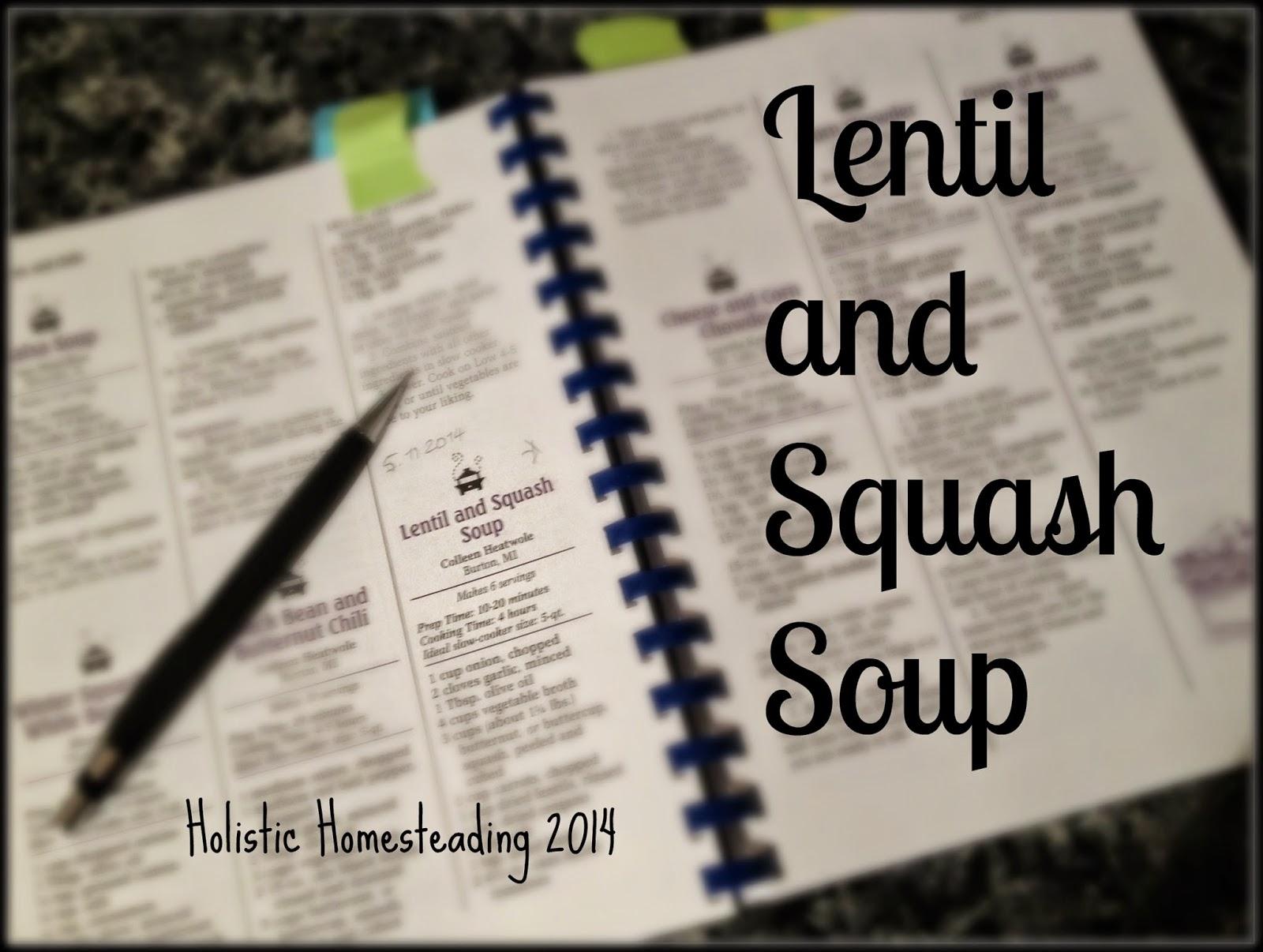 Lentil and Squash Soup