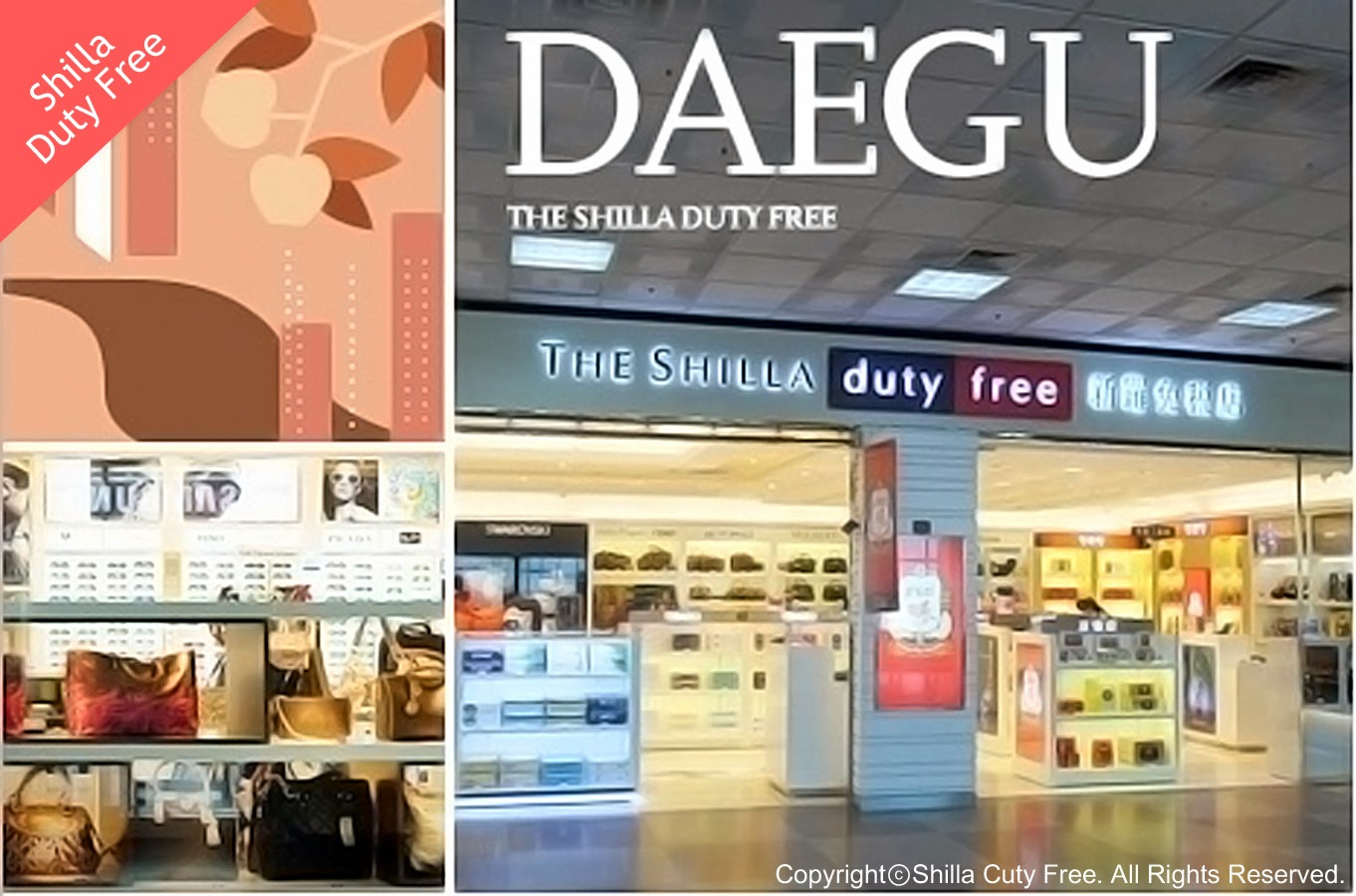 Shopping Areas in Daegu-Shilla Duty Free Shop in Daegu Airport, Dong-gu