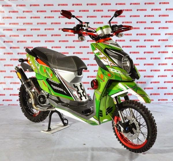 modifikasi yamaha x ride trail