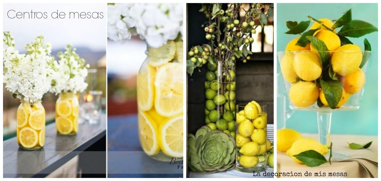 Ideas para fiestas decorar con limones - Centros de mesa con limones ...