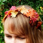 How to wire and autumn leaf headband
