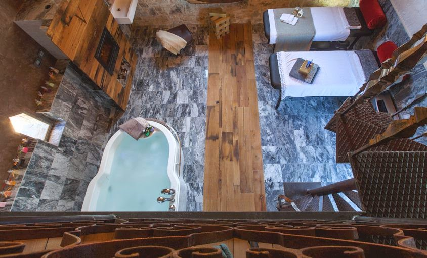 Spa room at Vitigliano luxury boutique hotel in Tuscany Italy
