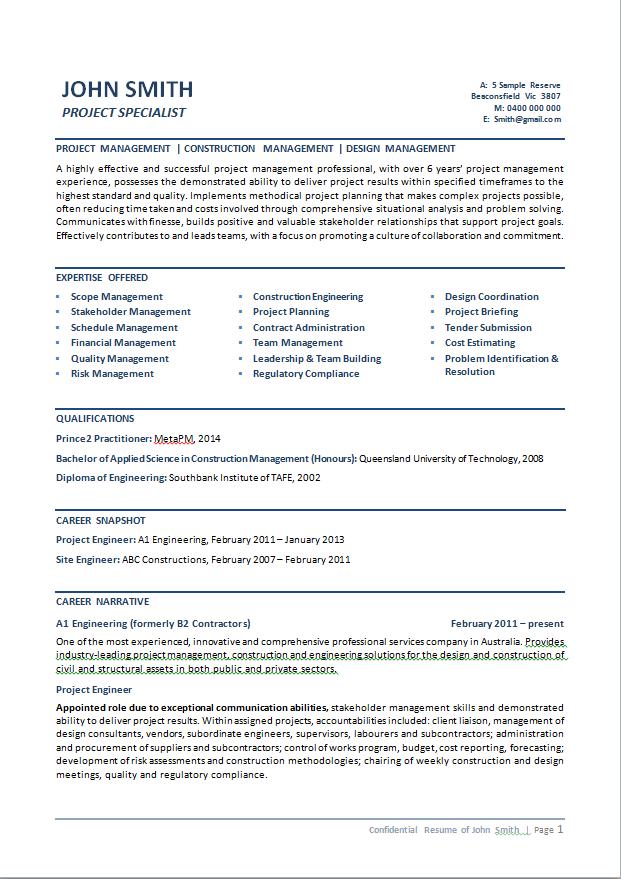 professional resume examples australia - Free Resume Samples Australia