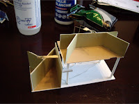 Interior styrene and cardstock insert structure for my DPM kit
