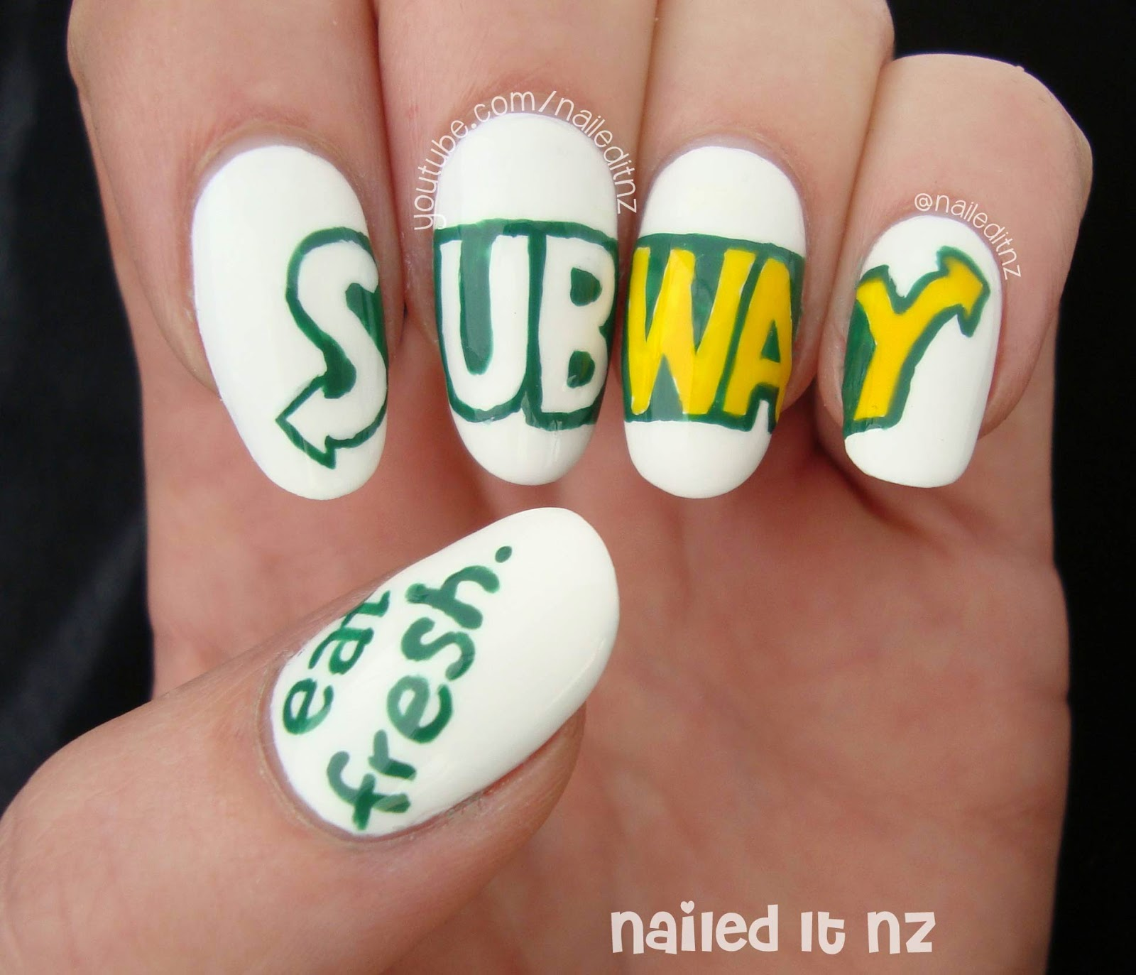 Subway Nail Art + Tutorial