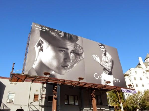Justin Bieber Calvin Klein Underwear billboard