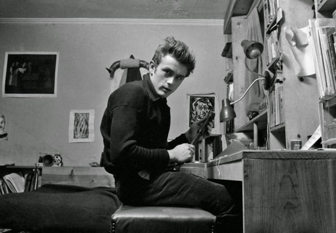James Dean und seine Studentenbude in New York