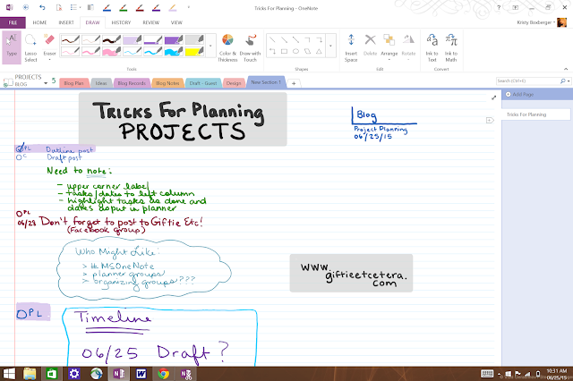 project, projects, project planning, planner, onenote