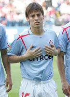 Silva, con la camiseta celeste durante su etapa en Vigo