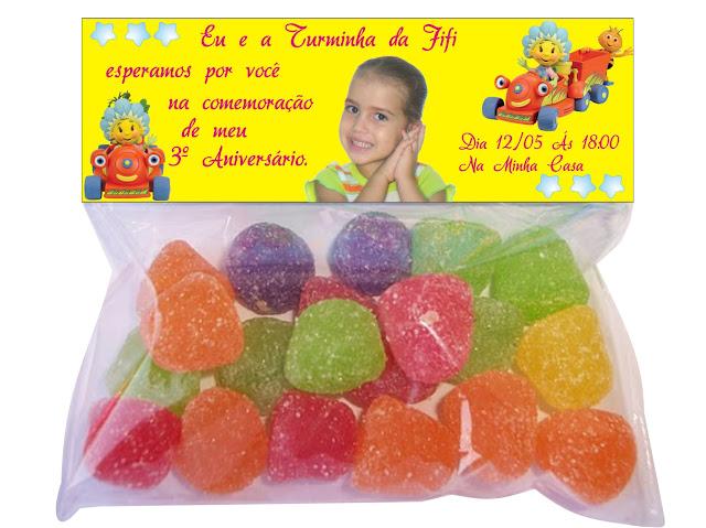 Convite de Aniversário infantil Fifi