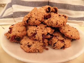 Cranberry and coconut oatmeal cookies