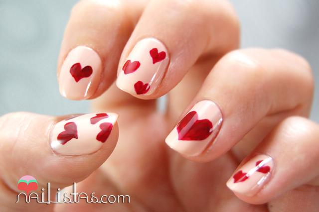 Nailistas: Uñas decoradas de San Valentín // Manicura de Corazones
