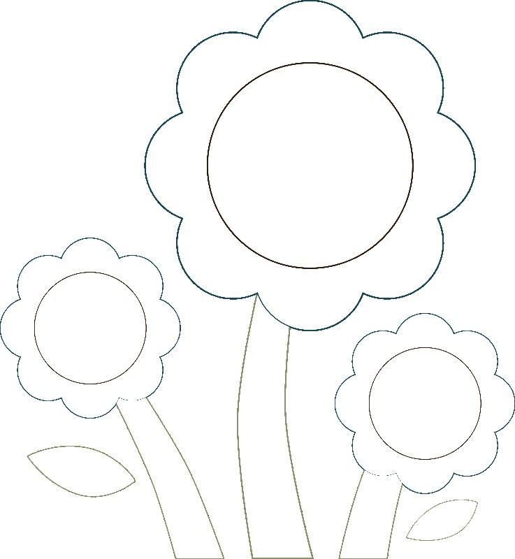 pre school flower coloring pages - photo#3