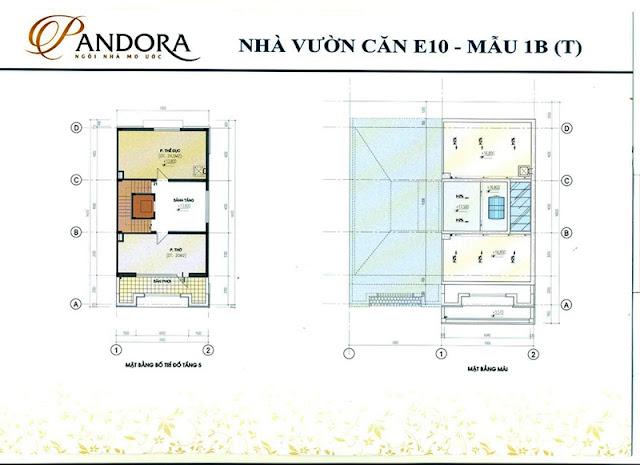 biệt thự pandora mẫu 1B tầng 5 và mái