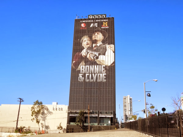 Giant Bonnie Clyde Lifetime A&E History billboard