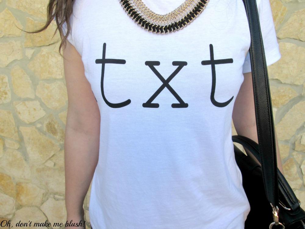 T-shirt text