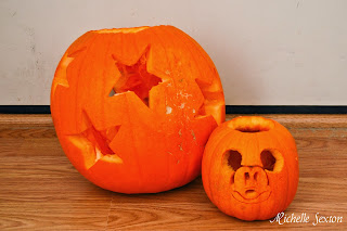 Star pumpkin and Mickey Mouse Pumpkin