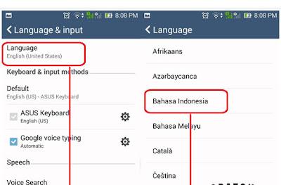 Cara Ubah Bahasa Default Pada Smartphone Android