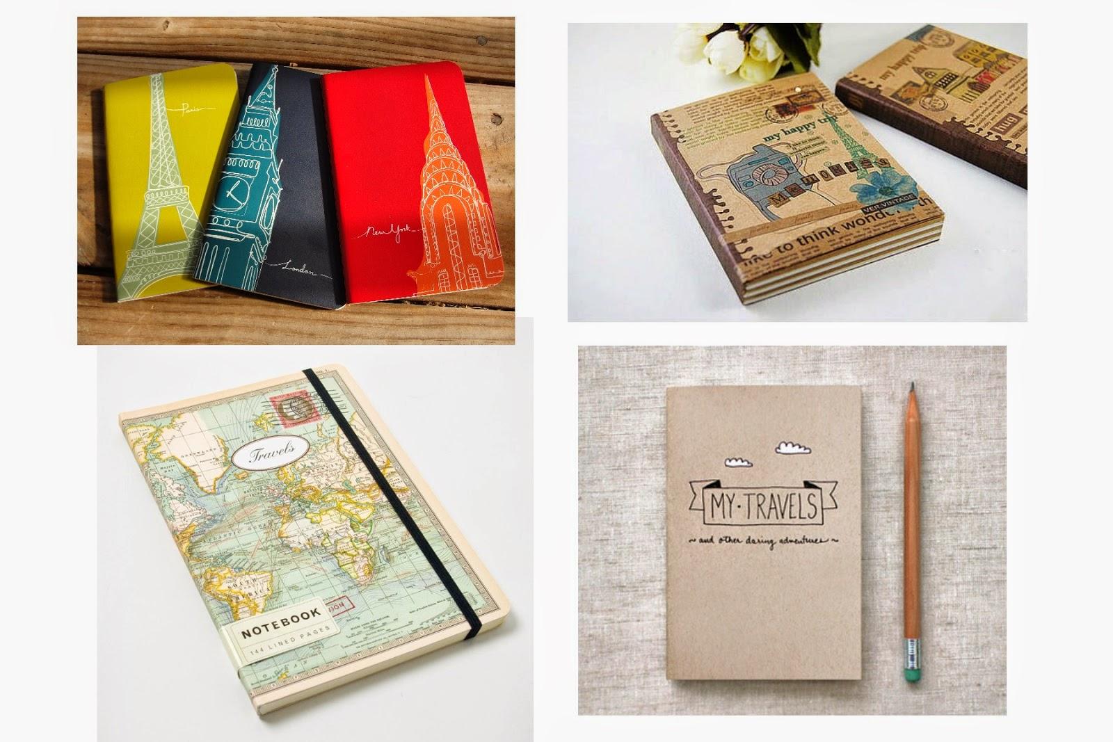 Regalos para viajeros: libreta o diario de viaje
