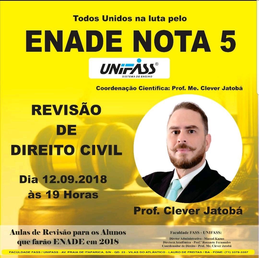 REVISÃO CIVIL ENADE 2018