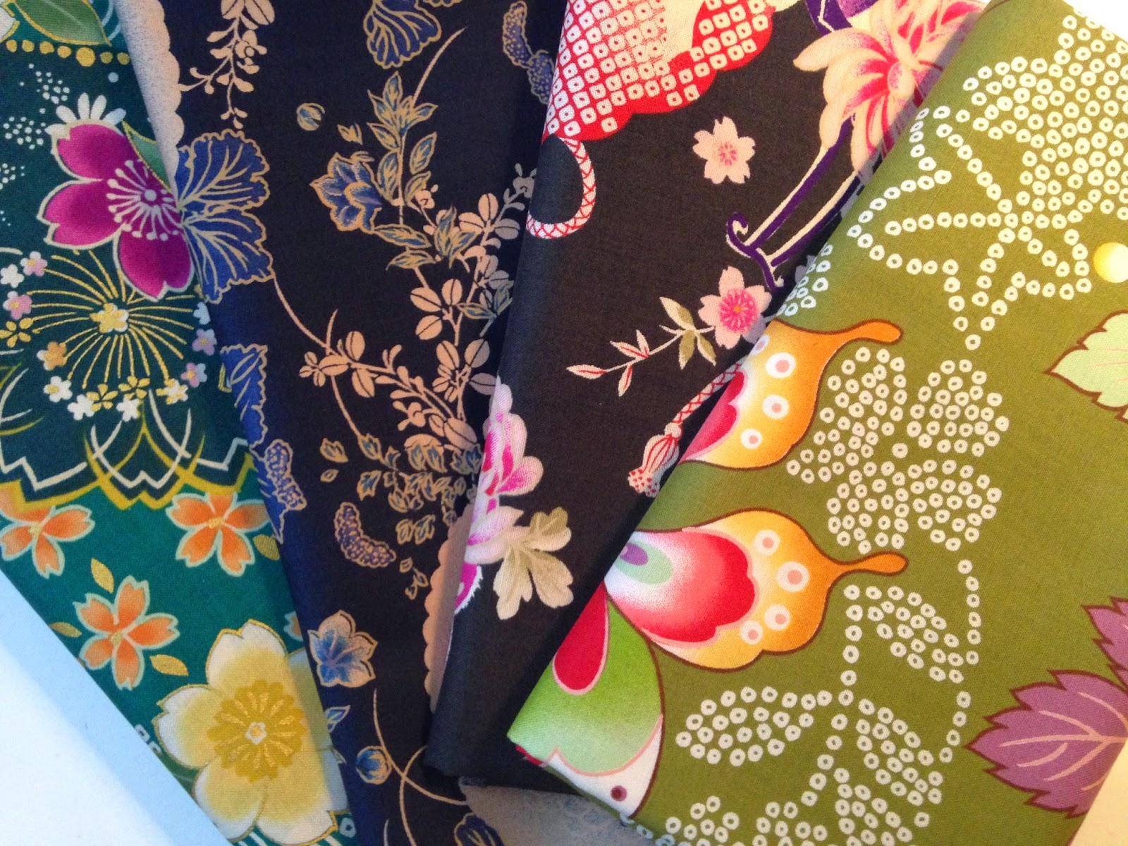 Skønne japanske stoffer fra stof fabrikken Kokka og af den japanske designer Itaya Naomi