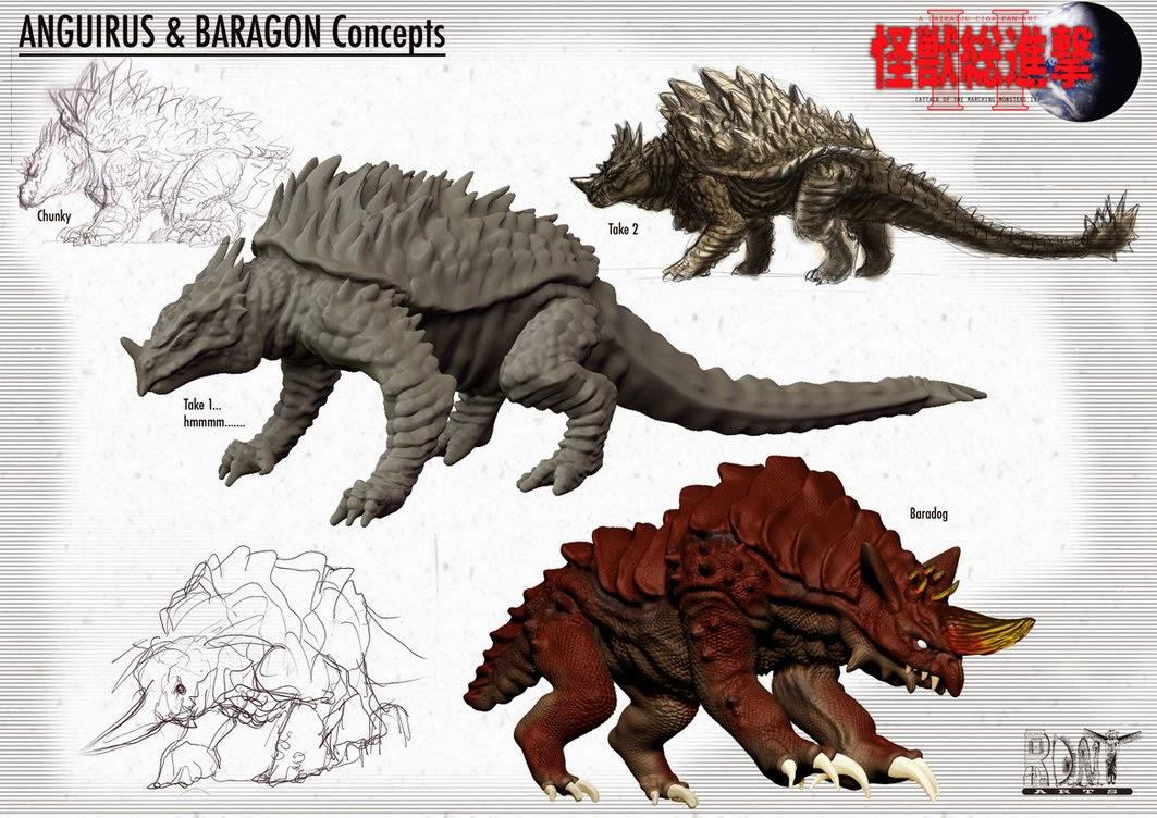 Anguirus Concept Art Kaiju Battle: S...