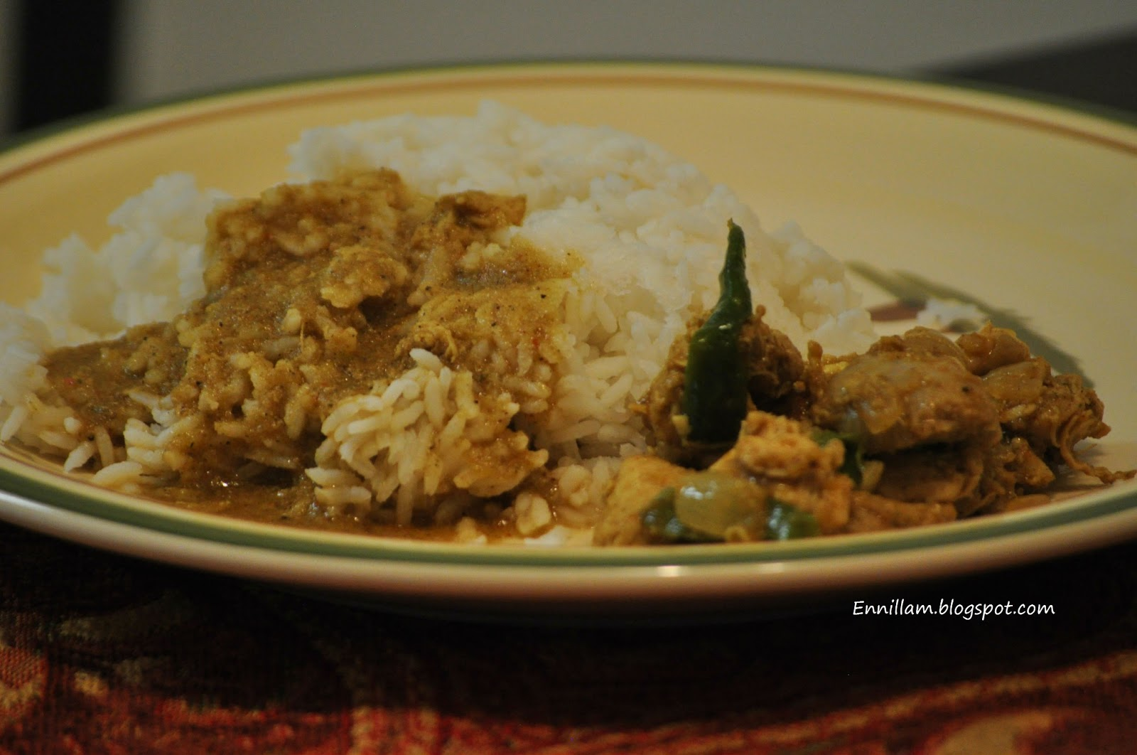 Chicken thanni kuzhambu