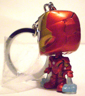Left side of Iron Man Pocket Pop Keychain