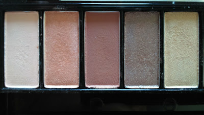 L'oreal La Palette Nude, 5 shadows on the left