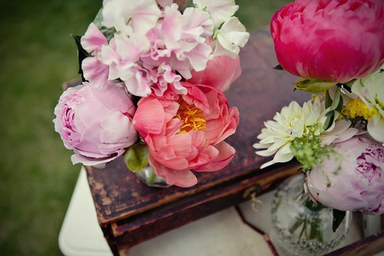 Colorful flowers add the perfect touch to any tablescape