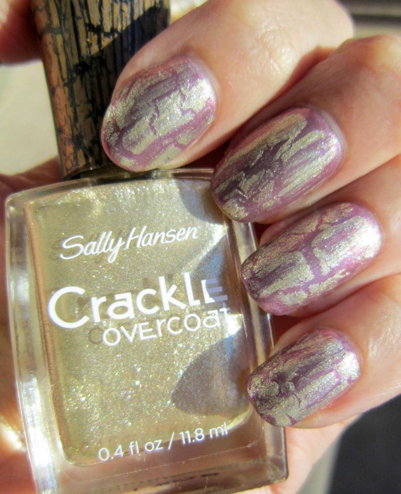 Concrete and Nail Polish: Elizabeth Arden & Sally Hansen Crackle