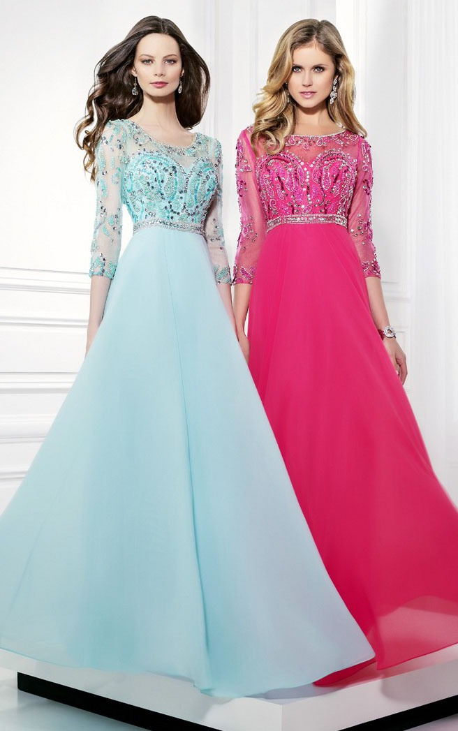 Prom Dresses With Sleeves  Cap Sleeve Short Sleeve