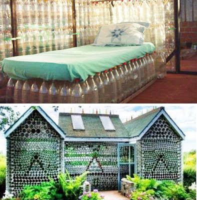بيت مصنوع بالقنينات البلاستيكية