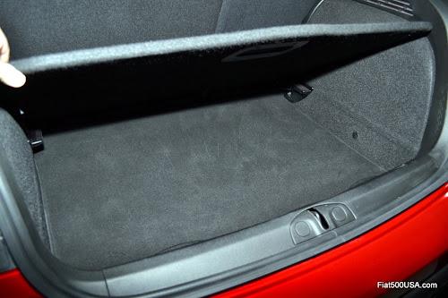 Fiat 500X Trunk Storage Compartment