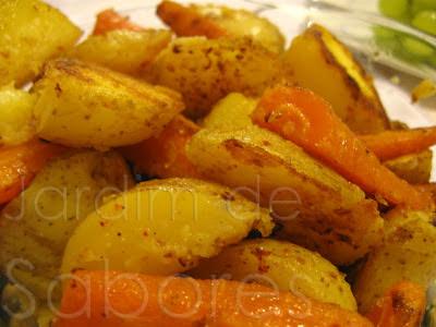 Salteado de Batatas e Cenoura