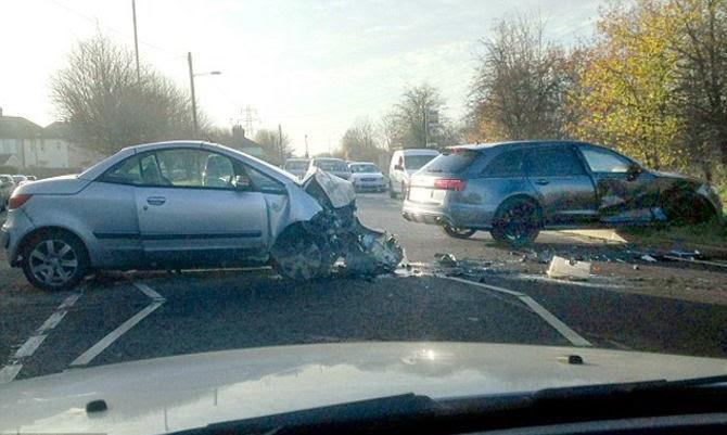 Kondisi Mobil David Beckham Pasca Kecelakaan
