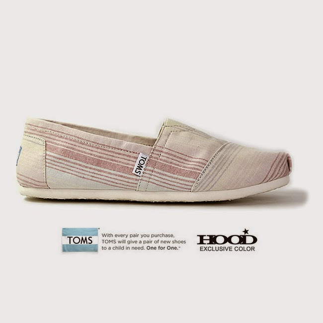 TOMS HOOD EXCRUSIVE<br>Classics Sand Summer Stripe.