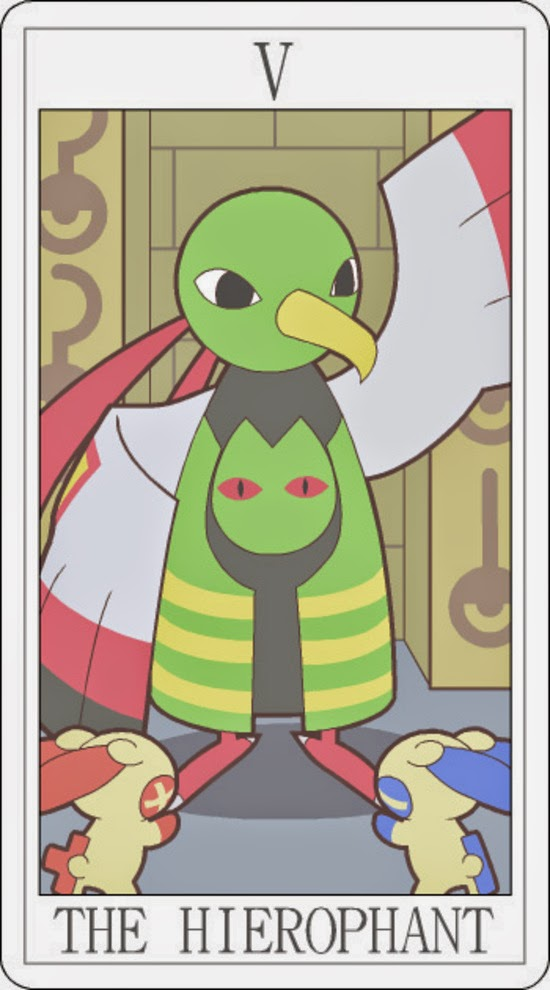 Pokemon Tarot - The Hierophant