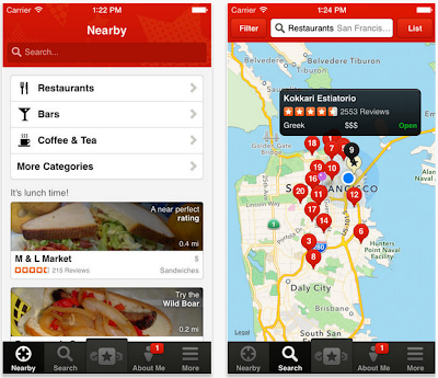 Yelp updated with local movie listings in app ticket purchasing and more
