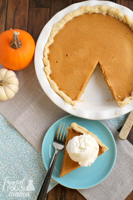 Triple Spice Pumpkin Buttermilk Pie