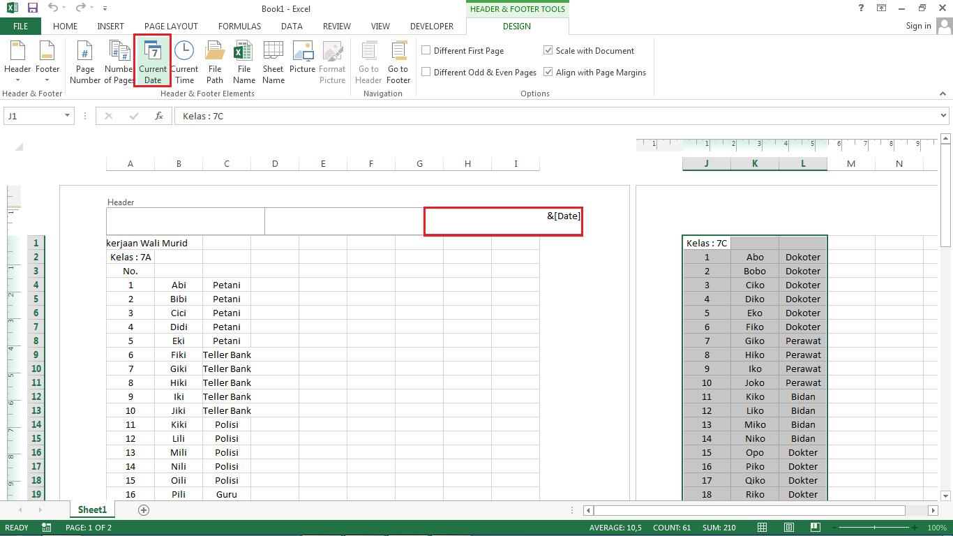 Memasukkan Tanggal Kedalam Microsoft Excel